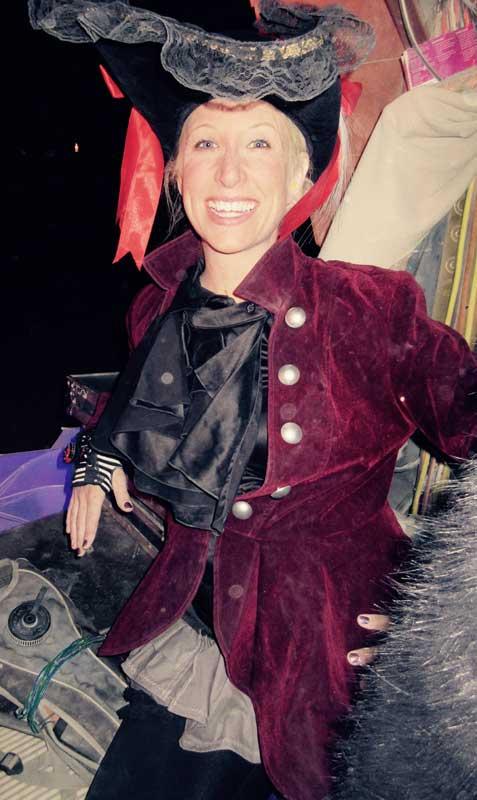 Customer photos wearing The Crimson Captain Anna