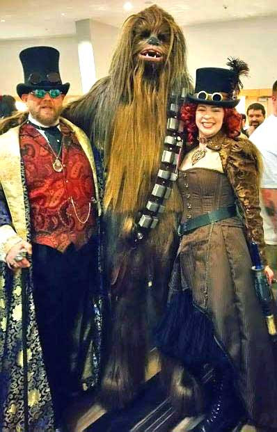 Customer photos wearing Let the Wookie Win!