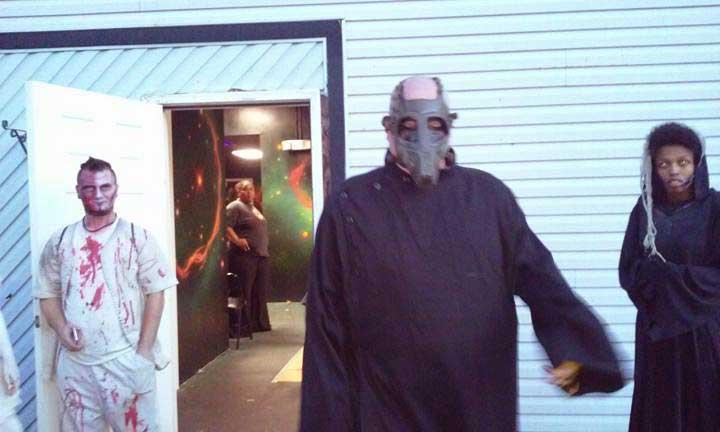 Customer photos wearing House of Horror
