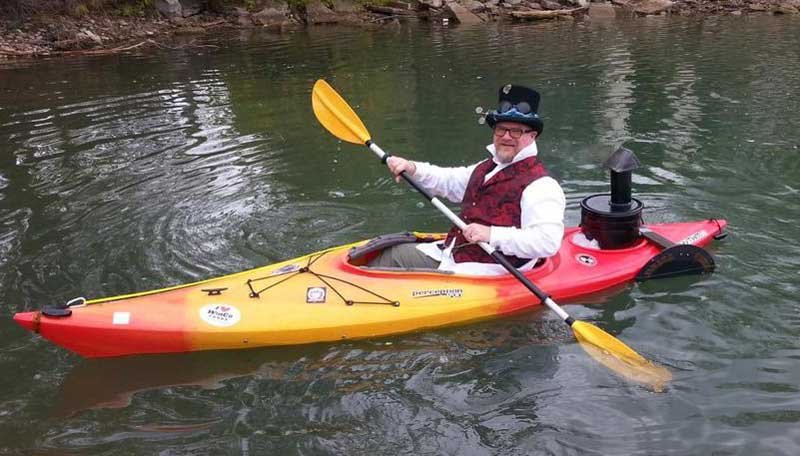Customer photos wearing Steam Powered Paddle Boat