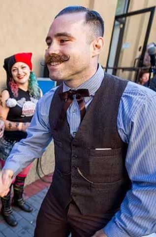 Customer photos wearing Mustache'd to Perfection