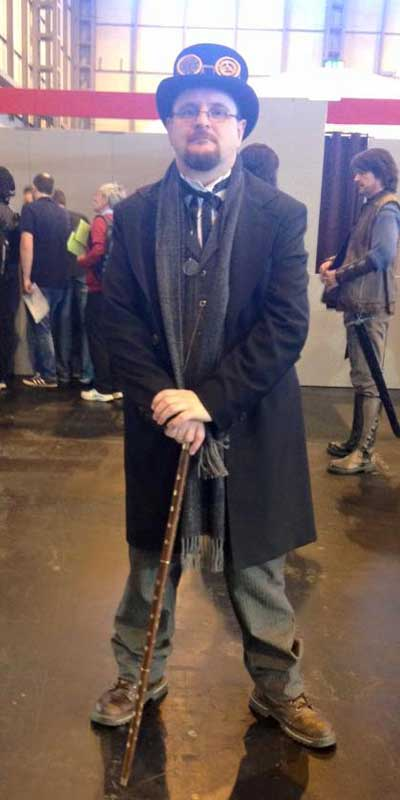 Customer photos wearing Victorian Comic Con Man