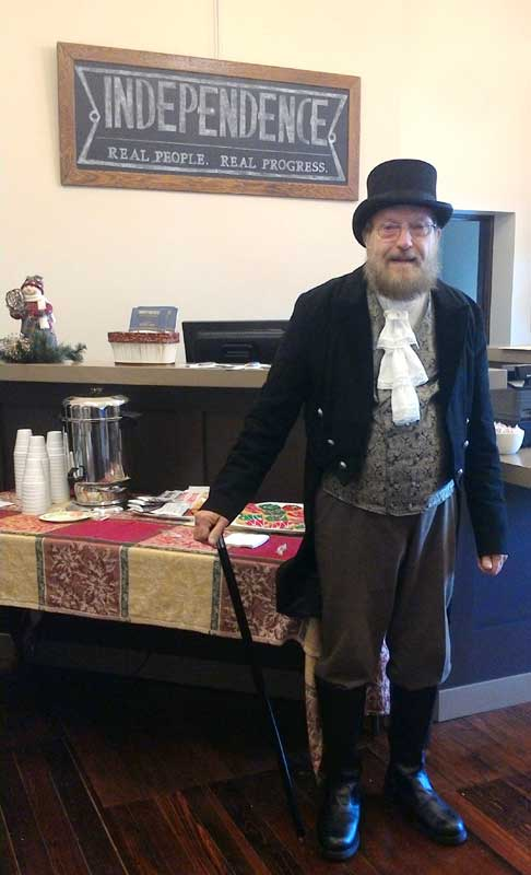 Customer photos wearing Historical Volunteer