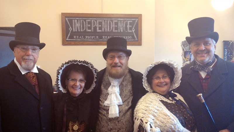 Customer photos wearing Courthouse Carolers