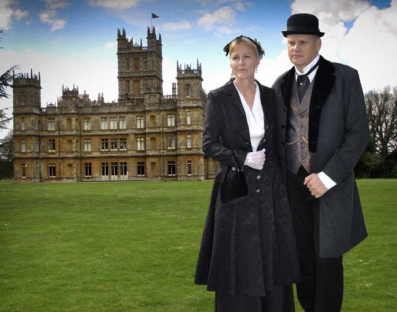 Customer photos wearing The Lord and Lady of Highclere Castle