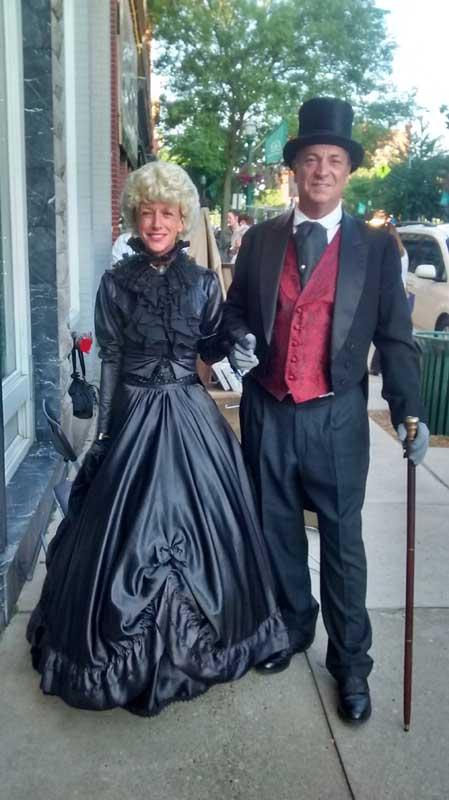Customer photos wearing Historic Greeters
