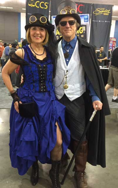 Customer photos wearing Steampunkers of Comicon