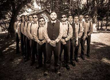Customer photos wearing Dapper Groomsmen