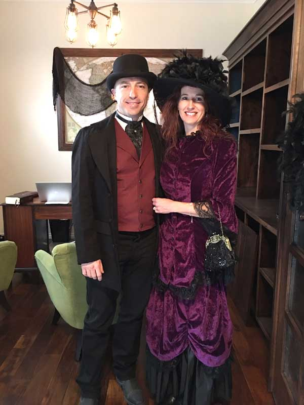 Customer photos wearing [Editors Pick] Victorian Ghosts out to Play!
