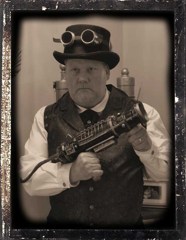 Customer photos wearing Steampunk Ghosthunter