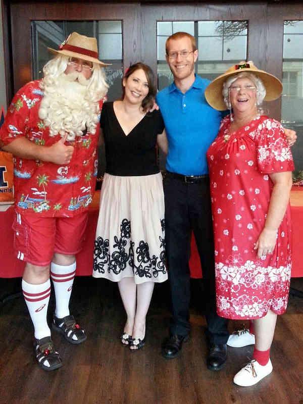 Customer photos wearing Summer Santa