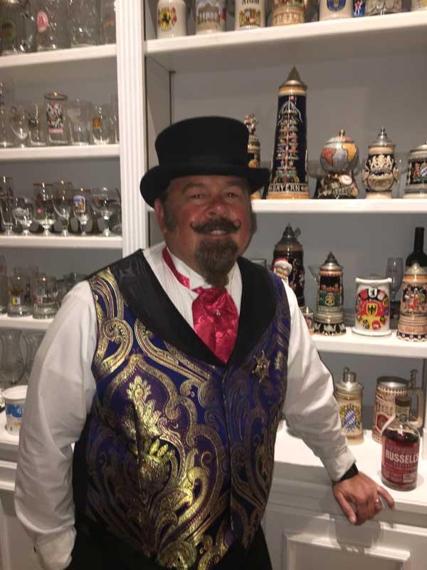 Customer photos wearing Top Hats and Beer Steins
