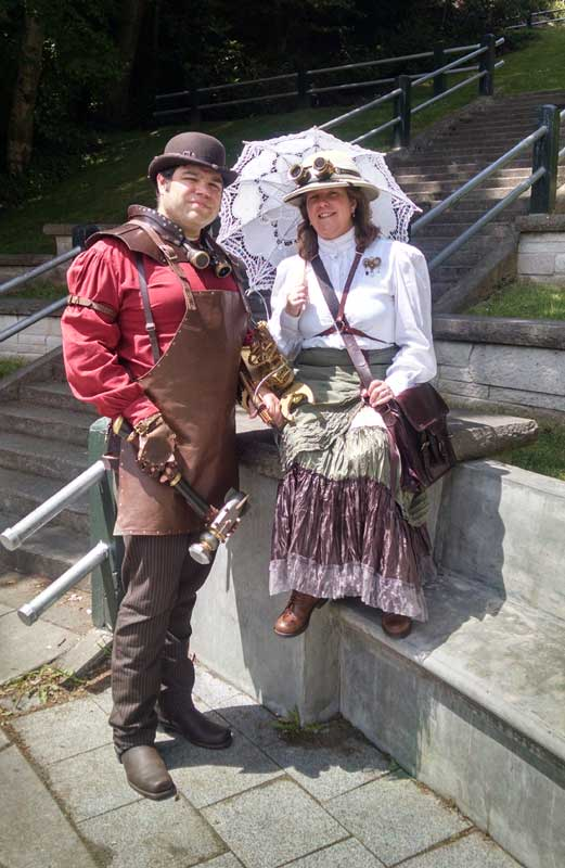 Customer photos wearing Perfect Steampunk Couple