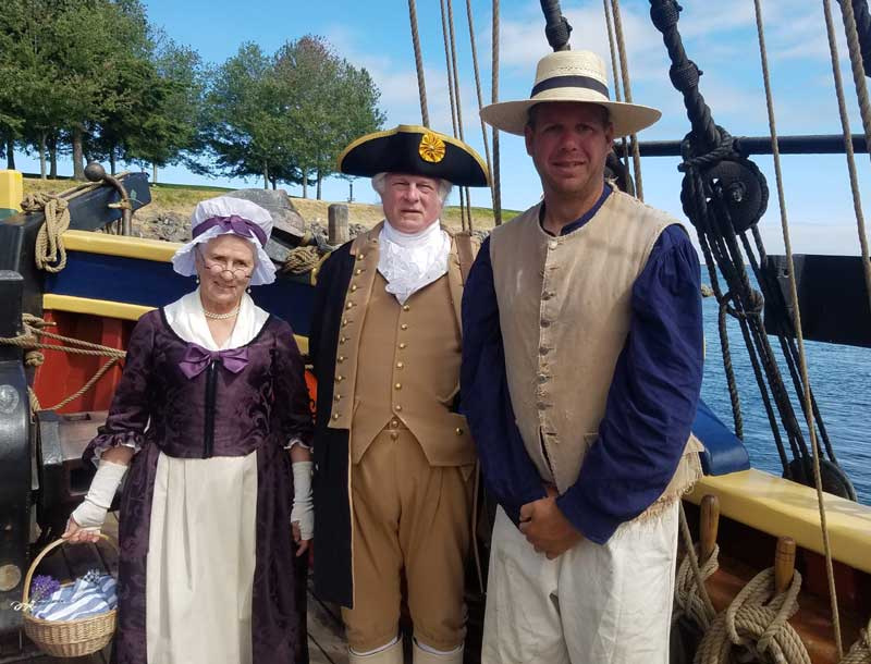 Customer photos wearing Washington State's Tall Ship Ambassador