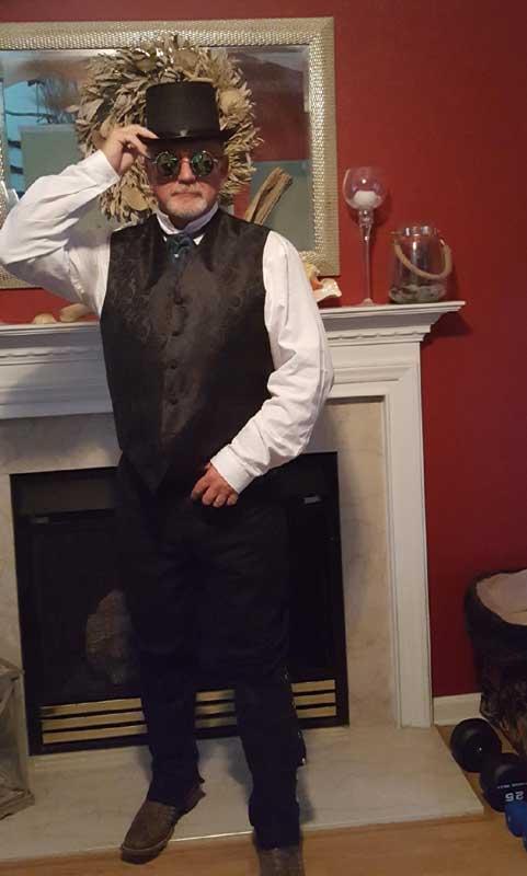 Customer photos wearing Steampunk Dandy