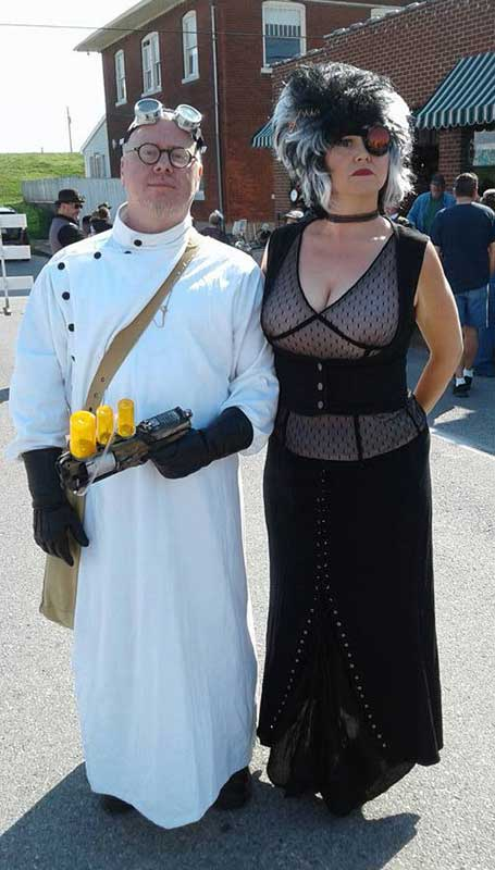 Customer photos wearing Big River Steampunk Festival