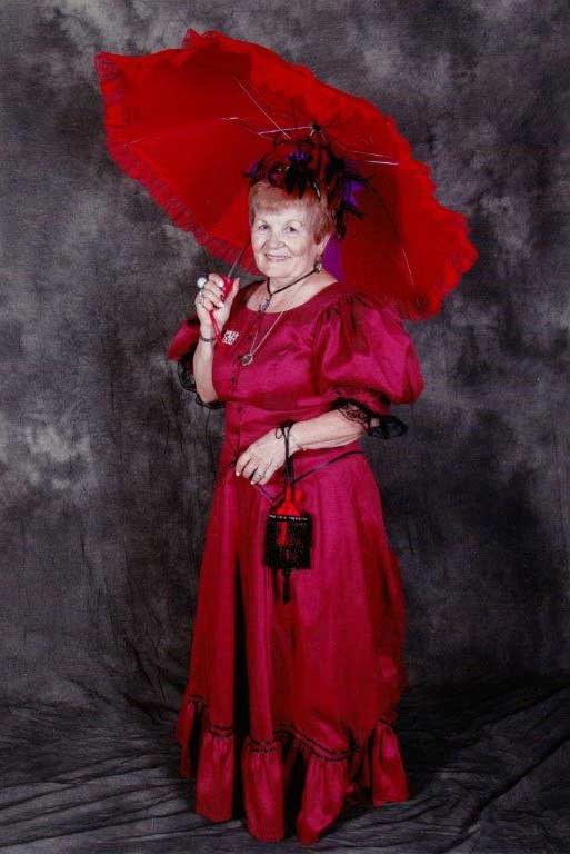 Customer photos wearing Red Hat Society