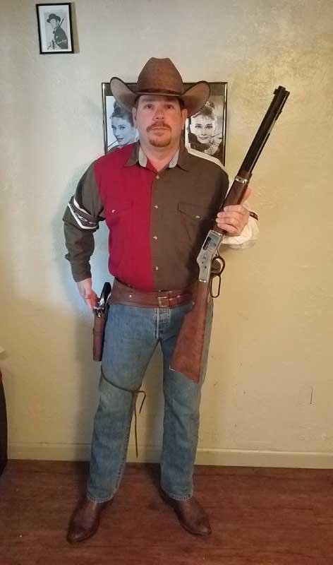 Customer photos wearing Deadshot Derek