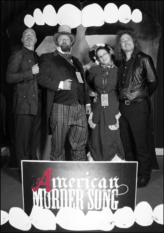 Customer photos wearing American Murder Song