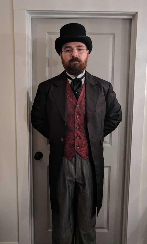 Customer photos wearing Victorian LARPer