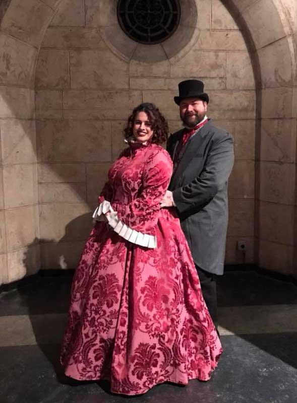Customer photos wearing Adorably Dickens