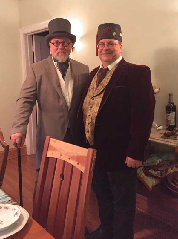Customer photos wearing Dapper Dinner Party