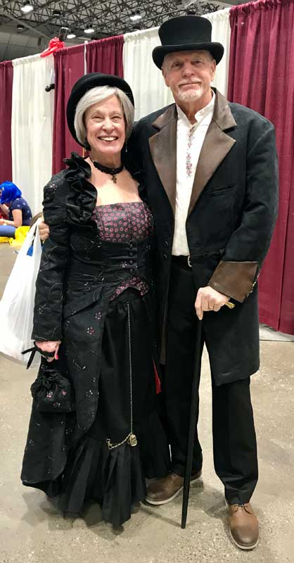 Customer photos wearing Never Too Old For Conventions