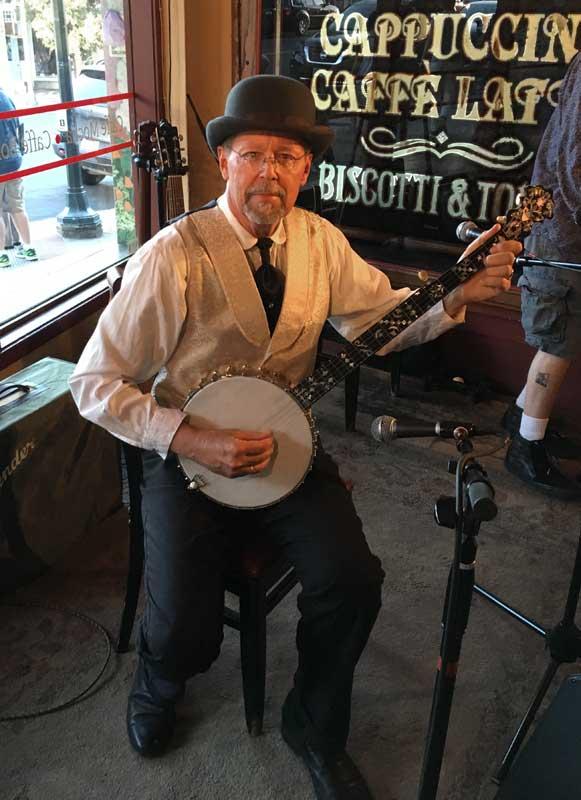 Customer photos wearing High Strung Banjo