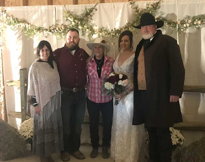 Customer photos wearing Western Themed Weddings