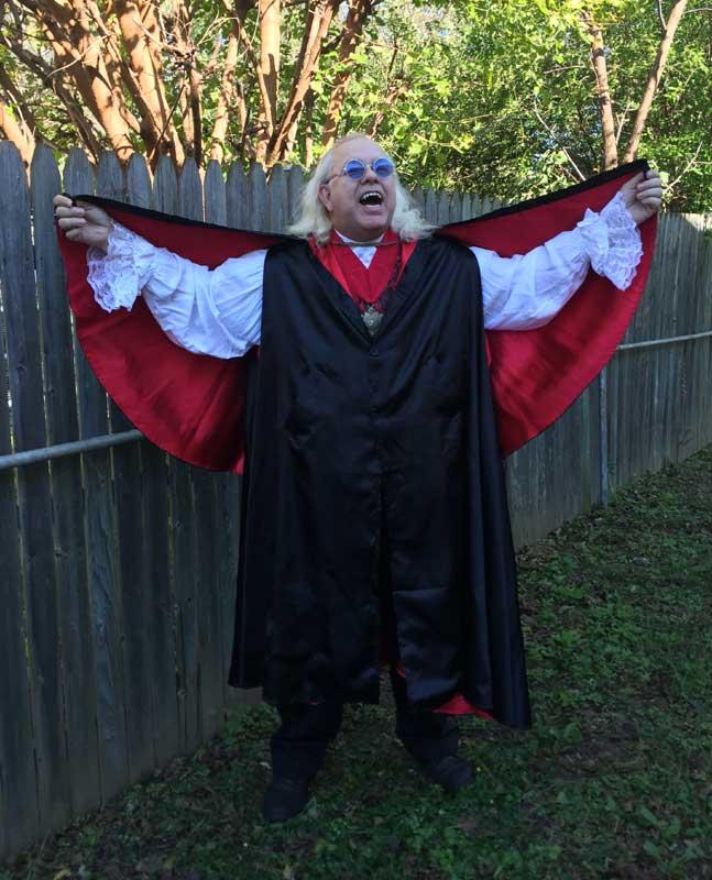 Customer photos wearing Count Dracula