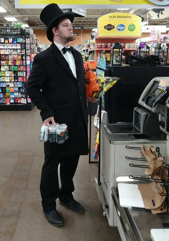 Customer photos wearing Even President Lincoln Gets Thirsty