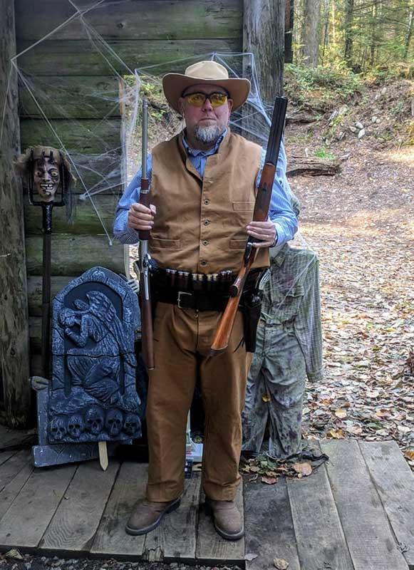 Customer photos wearing Graveyard Shootout