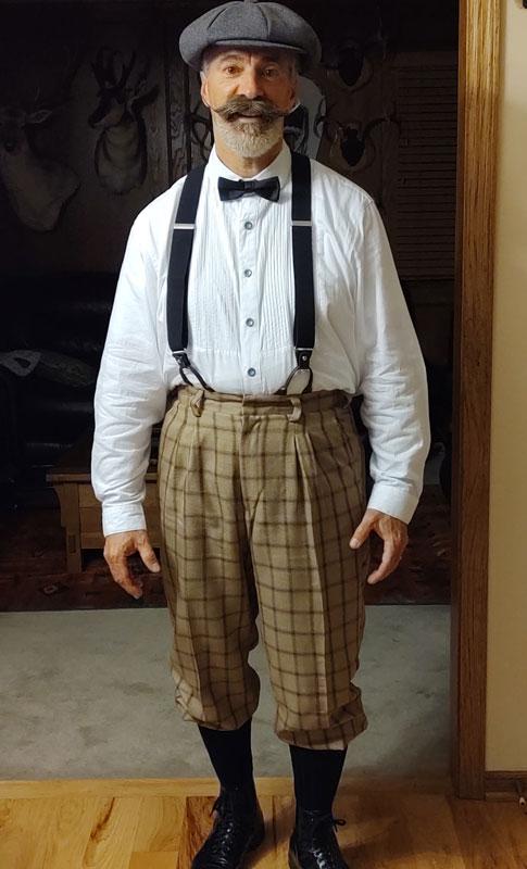 Customer photos wearing Dapper Paper Man