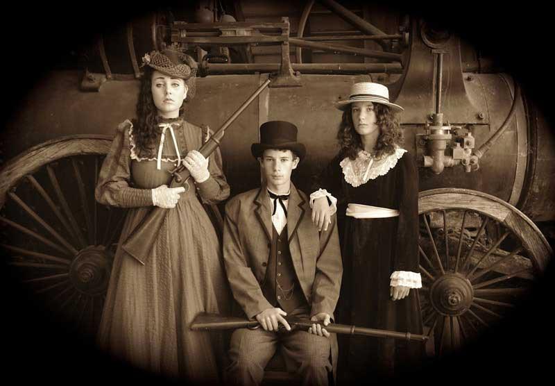 Customer photos wearing Period Photography, Kiwi Style