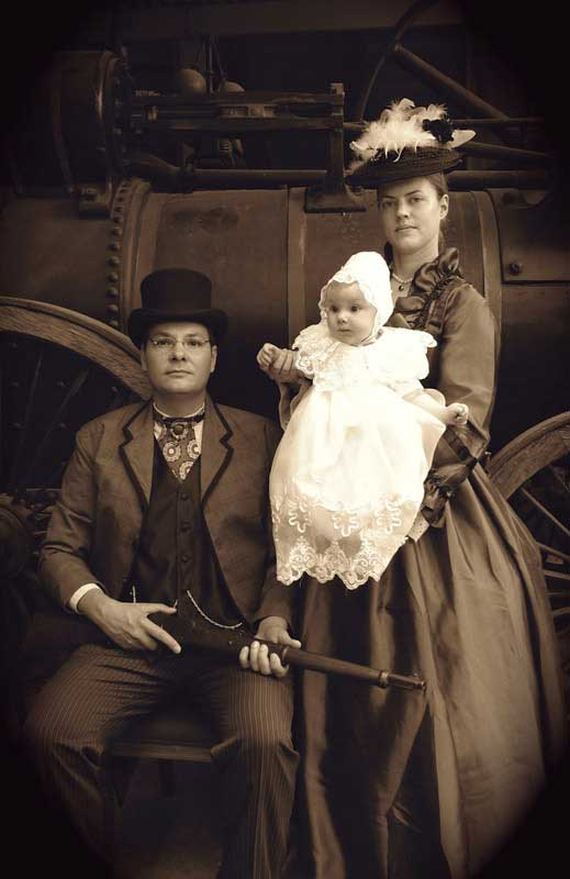 Customer photos wearing Period Photography, Kiwi Style