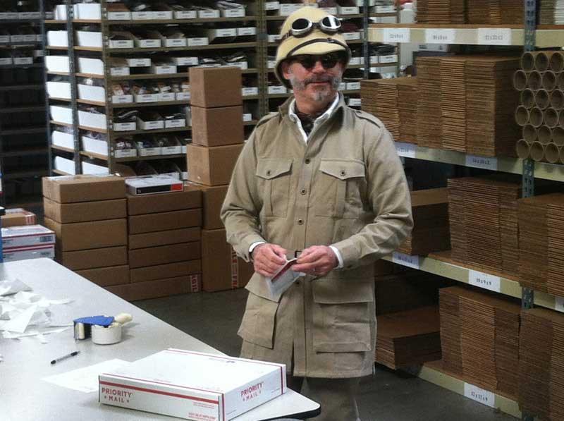 Customer photos wearing Mike the Adventurer