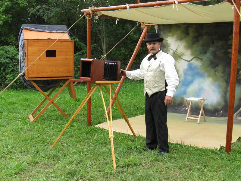 Customer photos wearing 1860's Photo Booth