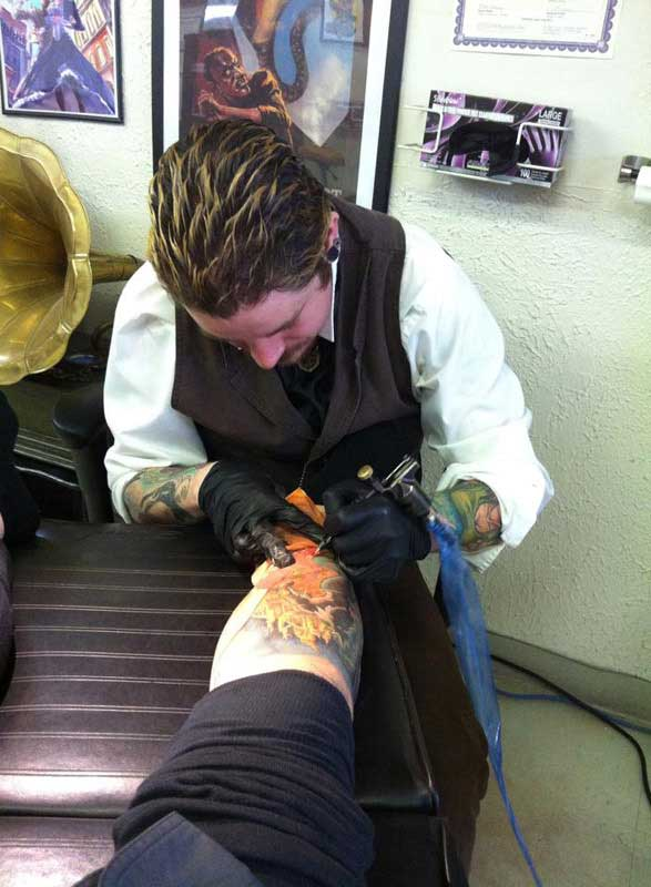 Customer photos wearing A Tattoo Artist of Distinction