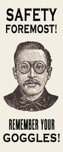 Man in Steampunk Goggles