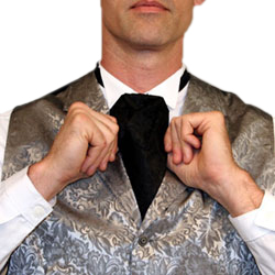 How to Wear a Victorian Puff Tie